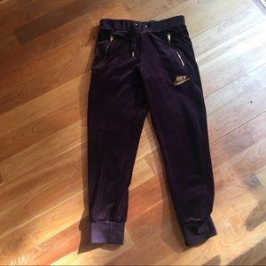 Nike Sportswear Velour Pants Wine NWOT Size S